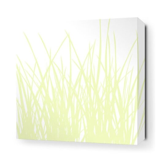 Soak Grass Stretched Graphic Art on Wrapped Canvas