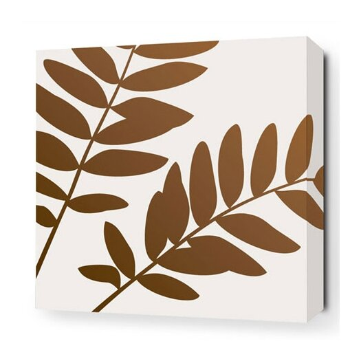 Inhabit Rhythm Leaf Stretched Graphic Art on Wrapped Canvas