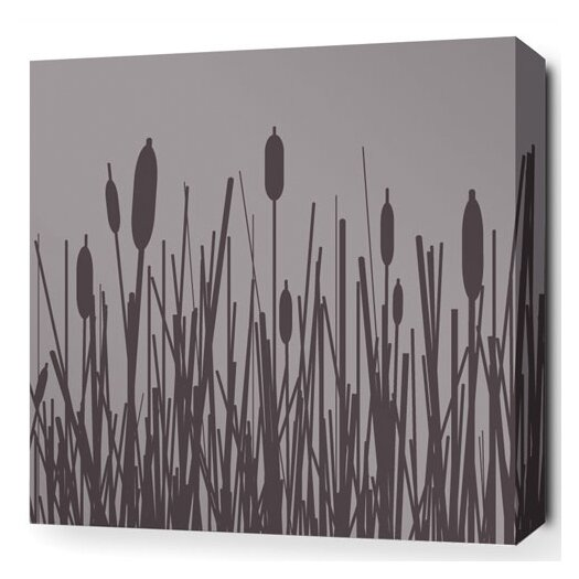 Inhabit Estrella Cattails Stretched Graphic Art on Wrapped Canvas