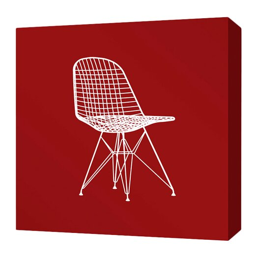 Inhabit Modern Classics 1951 Stretched Graphic Art on Wrapped Canvas in Scarlet