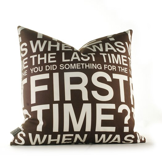 Graphic Pillows First Time Throw Pillow