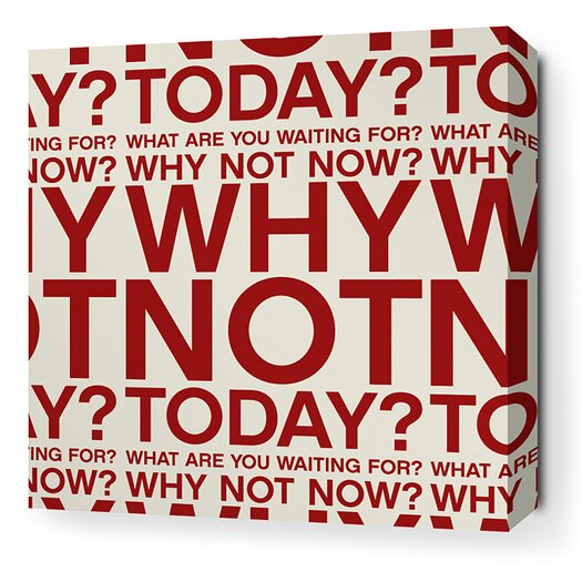 Inhabit Stretched Why Not Textual Art on Wrapped Canvas in Red