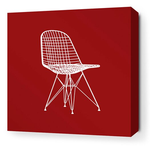 Inhabit Modern Classics 1951 Stretched Graphic Art on Wrapped Canvas in Red