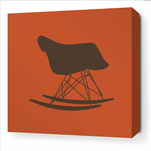 Inhabit Modern Classics 1948 Stretched Graphic Art on Wrapped Canvas in Rust