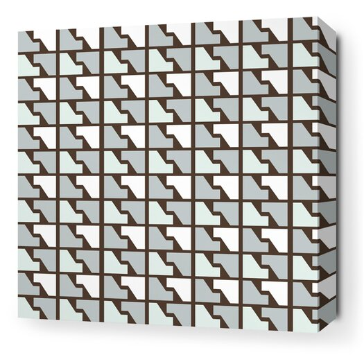 Inhabit Estrella Faux Houndstooth Stretched Graphic Art on Wrapped Canvas in Cornflower