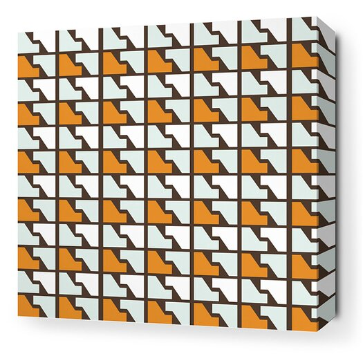 Inhabit Estrella Faux Houndstooth Stretched Graphic Art on Wrapped Canvas in Sunshine