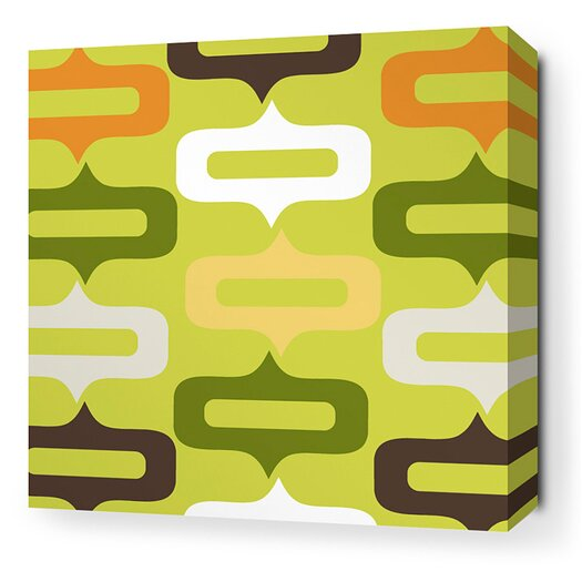 Inhabit Aequorea Smile Graphic Art on Wrapped Canvas in Lime