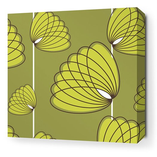 Aequorea Lotus Graphic Art on Wrapped Canvas in Grass and Lime