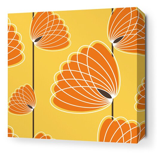 Aequorea Lotus Graphic Art on Wrapped Canvas in Sunflower