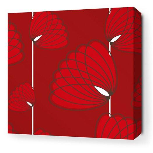 Inhabit Aequorea Lotus Graphic Art on Wrapped Canvas in Scarlet