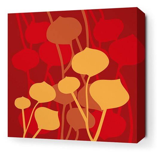 Inhabit Aequorea Seedling Graphic Art on Wrapped Canvas in Scarlet