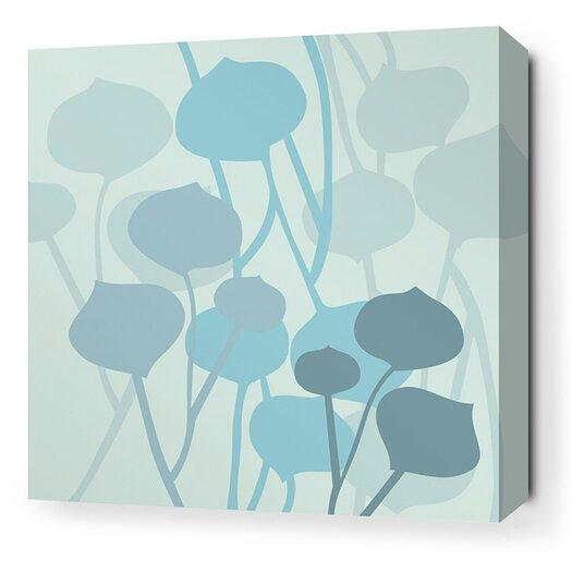 Aequorea Seedling Graphic Art on Wrapped Canvas in Light Cornflower
