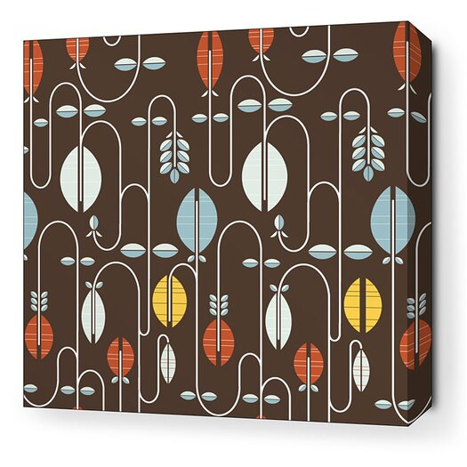 Inhabit Aequorea Carnival Graphic Art on Wrapped Canvas in Chocolate