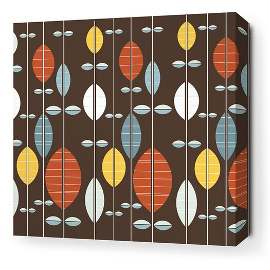 Inhabit Aequorea Carousel Graphic Art on Wrapped Canvas in Chocolate and Cornflower