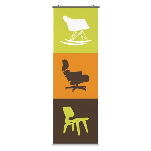 Inhabit Modern Classic 2 Slat Wall Hanging
