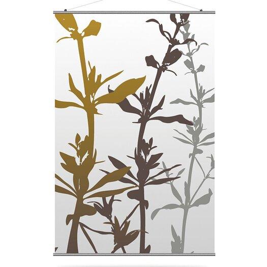 Inhabit Morning Glory Wildflower Slat Wall Hanging