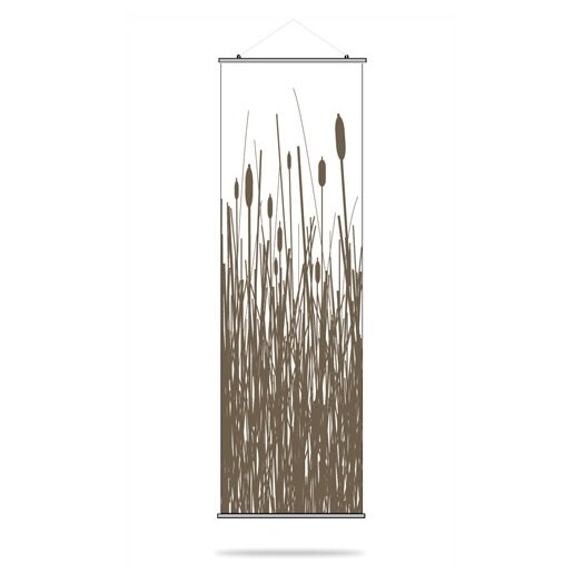 Inhabit Estrella Cattails Slat Wall Hanging