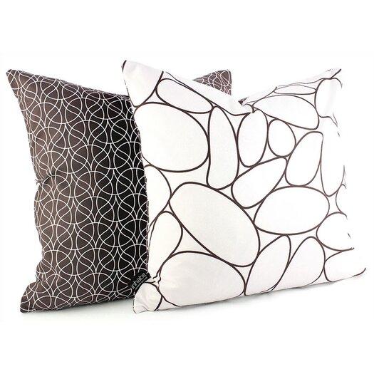 Inhabit Madera River Rock Suede Throw Pillow