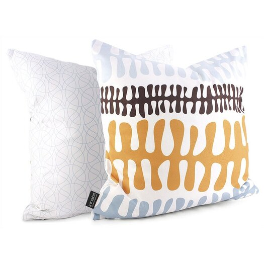 Inhabit Spa Plankton Suede Throw Pillow