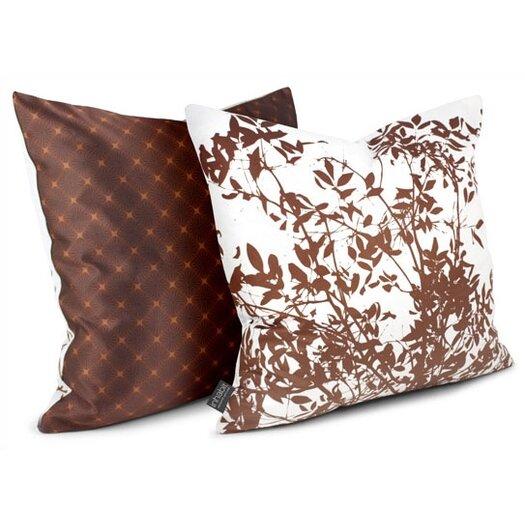 Rhythm Brush Sateen Throw Pillow
