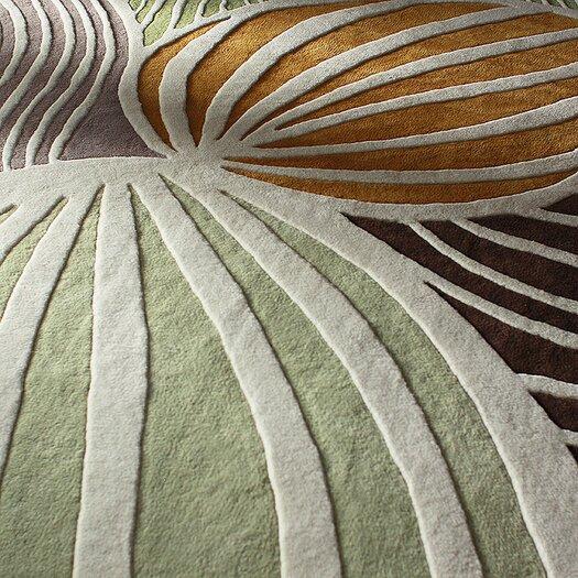 Inhabit Leaf Natural & Apricot Area Rug
