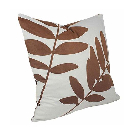 Inhabit Rhythm Leaf Suede Throw Pillow