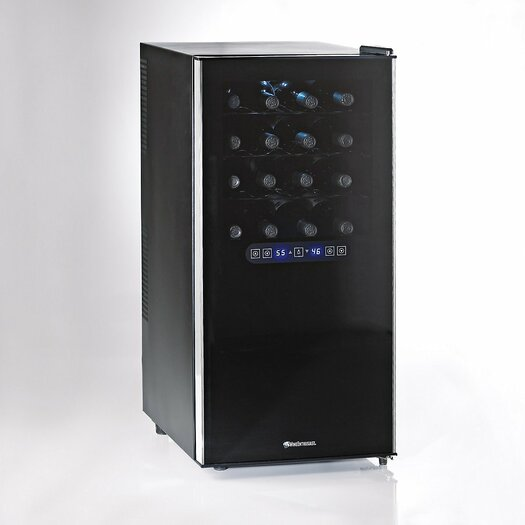 Wine Enthusiast Silent 32 Bottle Dual Zone Freestanding Wine Refrigerator