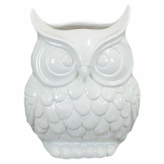 Urban Trends Ceramic Owl Vase