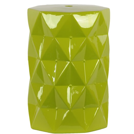 Urban Trends Ceramic Diamond Garden Stool