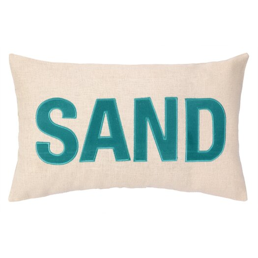 Peking Handicraft Nautical Applique Sand Lumbar Pillow