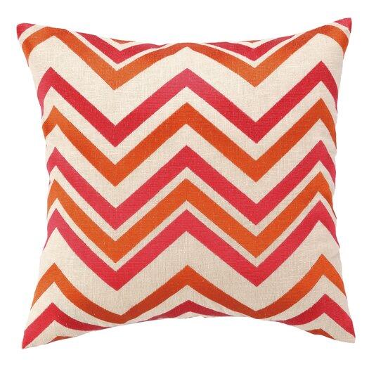Peking Handicraft Courtney Cachet Chevron Embroidered Decorative Throw Pillow