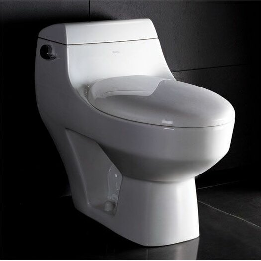 1.28 GPF Elongated 1 Piece Toilet Product Photo