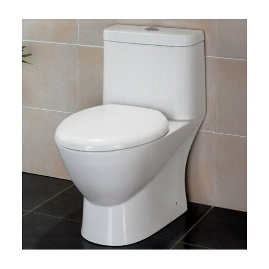 Modern Ceramic Dual Flush Elongated Toilet 1 Piece Product Photo