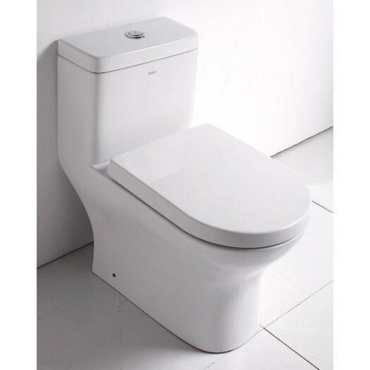Ceramic Dual Flush Elongated 1 Piece Toilet Product Photo
