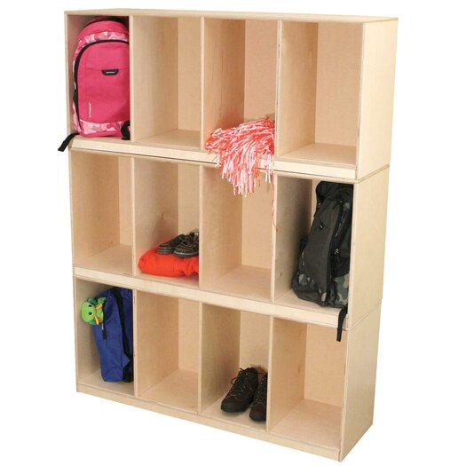Wood Designs 12-Section Open Stack Locker