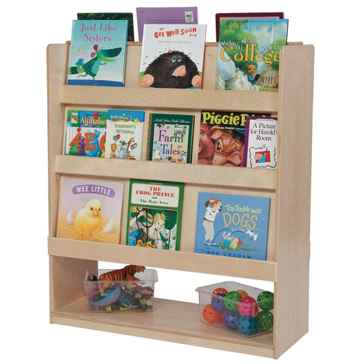 Wood Designs Deluxe Double Sided Library