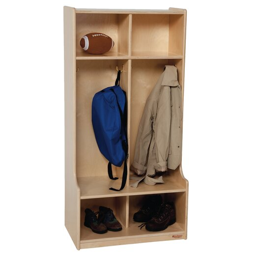 Wood Designs 1 Tier 2-Section Offset Locker