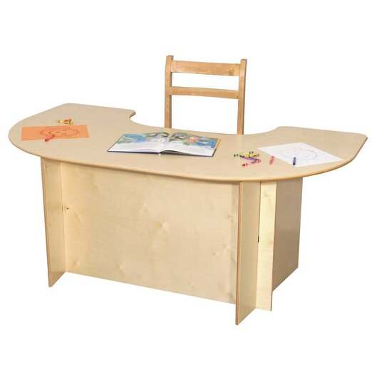"Wood Designs 52"" x 29.5"" Kidney Classroom Table"