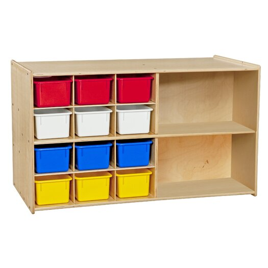 Wood Designs Contender Double Mobile 14 Compartment Cubby