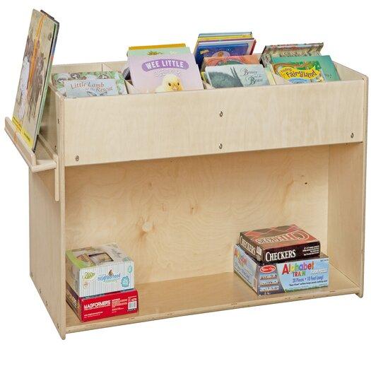Wood Designs Mobile Book Organizer