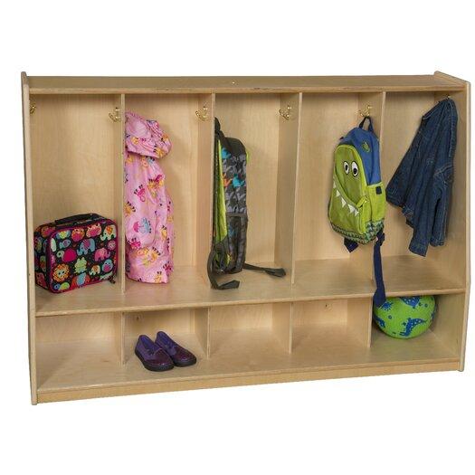 Wood Designs Healthy Kids 5-Section Tip-Me-Not Locker