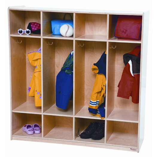 Wood Designs 1 Tier 4-Section Locker