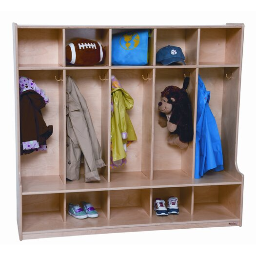 Wood Designs 1 Tier 5-Section Offset Seat Locker