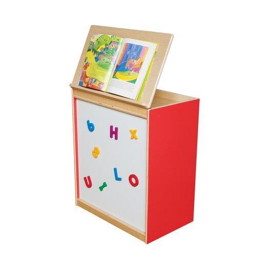 Wood Designs Big Book Display with Magnetic Markerboard