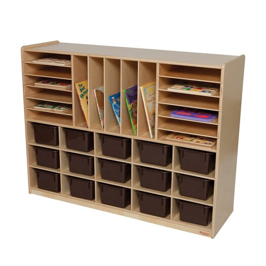 Wood Designs Natural Environment 32 Compartment Cubby