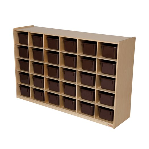 Wood Designs Natural Environment 30 Compartment Cubby