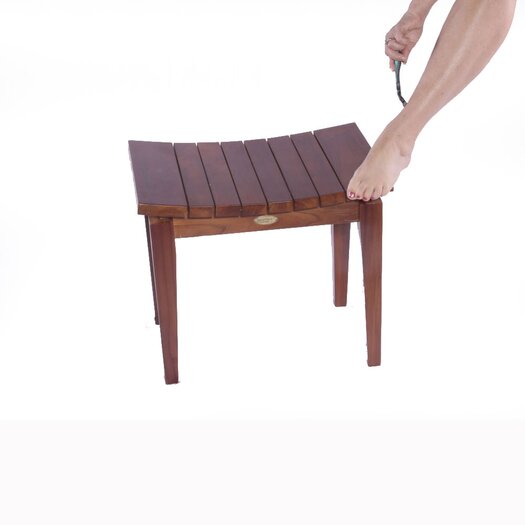 Decoteak Sojourn Asia Furniture Contemporary Teak Shower Stool