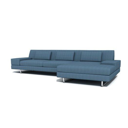"TrueModern Hamiln 130"" Sofa With Chaise"