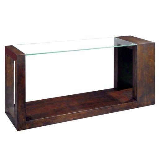 Allan Copley Designs Dado Rectangular Glass Top Console Table