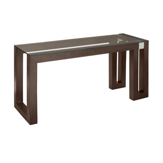 Calligraphy Rectangle Glass Top Console Table